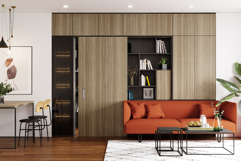 Thiết kế căn hộ 1 phòng ngủ tại Celadon Emerald – C.08 – Gói Style
